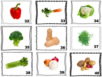 French Vegetables Speaking and Writing Activities (Zut Cards)