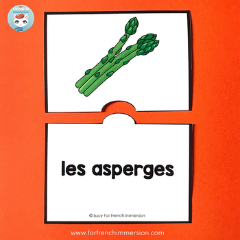 French Vegetables Vocabulary Puzzles | LES LÉGUMES French Puzzles