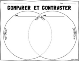 French Venn Diagram Compare & Contrast Worksheet
