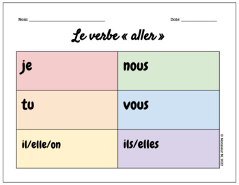 French Verb ALLER - Scoot Activity
