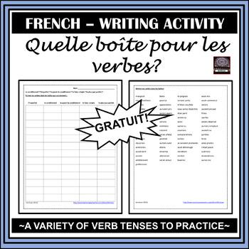 French Verb Activity – Quelle boîte pour les verbes ?
