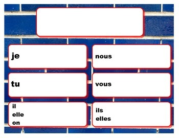 French Verb Chart Posters--Reusable