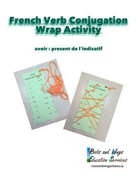 French Verb Conjugation Wrap Activity