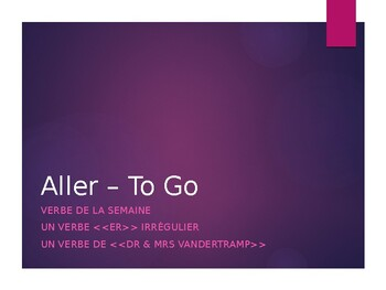 French Verb Conjugations: Aller