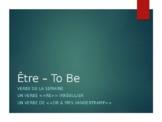 French Verb Conjugations: Être