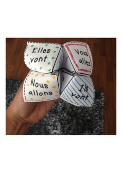 French Verb Cootie Catchers - ALLER (1/4)
