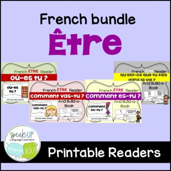 French Verb ÊTRE Readers & Build-a-Books {Bundled set of 4}
