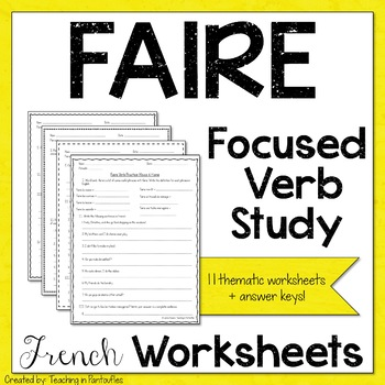 French food unit with verbs teaching resources teachers pay teachers french verb faire worksheets french verb faire worksheets fandeluxe Gallery