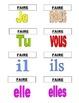 French Verb Flash Cards: AVOIR, FAIRE, ALLER, VENIR, ETRE