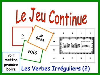 French Irregular Verbs  Activity for Groups (Version 2)