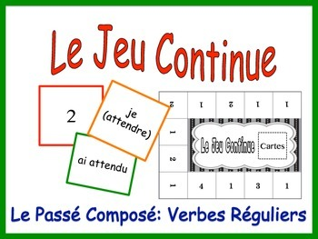 French Passé Composé (Regular Verbs) Activity for Groups