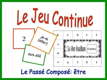 French Passé Composé, Être Activity for Groups