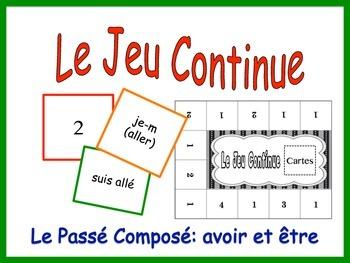 French Passé Composé, Être and Avoir Activity for Groups