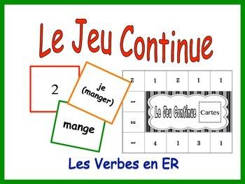 French Regular ER Verbs Activity for Groups
