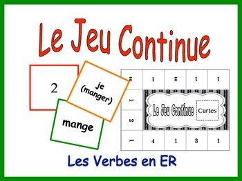 French Regular ER Verbs Activity for Groups