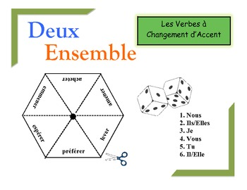 French Accent-Change Verbs Practice Activity (Pairs or Groups)