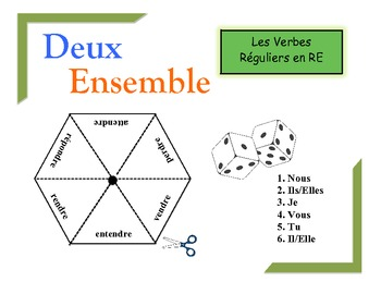 French RE Verbs Practice Activity (Pairs or Groups)