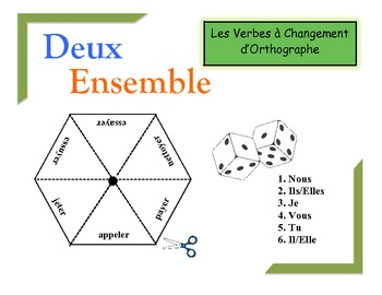 French Spelling-Change Verbs Practice Activity (Pairs or Groups)