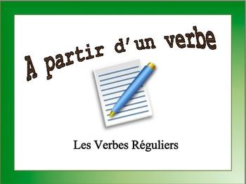 French Regular Verbs (er, ir, re) Sentence Writing Powerpoint