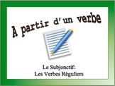 French Subjunctive (Regular) Sentence Writing Powerpoint Activity