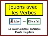 French Passé Composé (Irreg Past Part) Writing Activity, Powerpoint