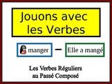 French Passé Composé (Regular Verbs) Writing Activity, Powerpoint
