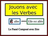 French Passé Composé (être) Writing Activity, Powerpoint