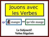 French Subjunctive (Regular) Writing Activity, Powerpoint