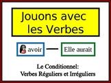 French Conditional (Regular & Irregular) Writing Activity, Powerpoint