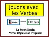 French Simple Future (Regular & Irregular) Writing Activity, Powerpoint