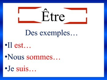 French Verb Form and Sentence Writing Powerpoint Activities (15 Versions)