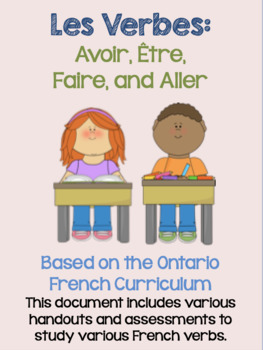 French Verb Handouts and Assessments: Avoir, Être, Faire, and Aller