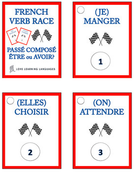 French Verb Race Games - Growing Bundle