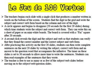 French Reflexive Verbs Writing Activity (Powerpoint)