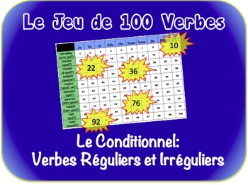 French Conditional (Regular & Irregular) Writing Activity