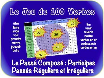 French Passé Composé (Reg & Irreg Past Part) Writing Activ