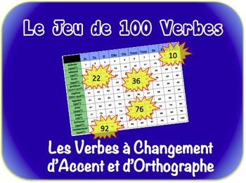 French Spelling & Accent-Change Verbs Writing Activity (Po