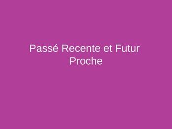 French Verb Tenses--Passe Recente et Futur Proche PowerPoint Practice