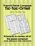 French Verb Tic-Tac-Orteil (Tic-Tac-Toe) Game BUNDLE for Passé Composé Review