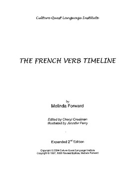 French Verb Timeline - Teacher's Manual