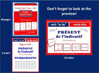 French Verb To Be… être - BUNDLE - Present Simple Tense (p