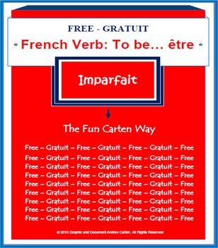 French Verb To Be… être - Past Tense (Imparfait) - FREE Version!