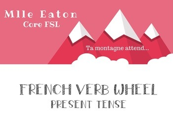 French Verb Wheel template