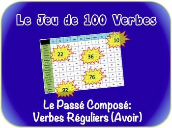 French Passé Composé (Avoir) Writing Activity (Powerpoint)