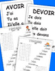 French Verb study guide. Ladder game. AVOIR, ÊTRE. VOULOIR. 1st group verbs