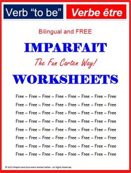 """French Verb """"to be"""" Past ImperfectTense (Imparfait) - WORKSHEETS"""