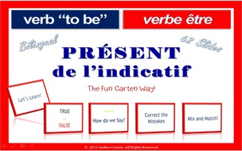 French Verb To Be... être, Interactive PRESENT Tense Packet