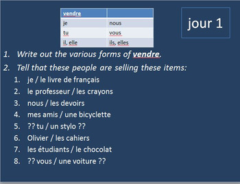 French Verbs 1 BELLWORK Bundle