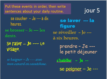 French Verbs 2 BELLWORK Bundle