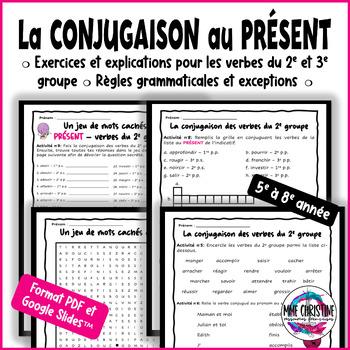 French Verbs 2nd & 3rd Group- Verbes au PRÉSENT du 2e et 3e groupe avec Quiz